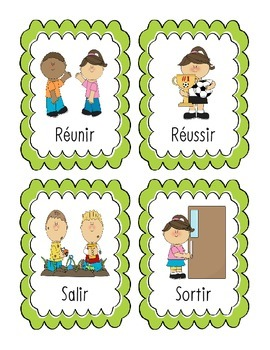 French Flashcards - Verbs Ending in IR