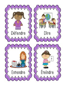 French Flashcards - Verbs Ending in RE