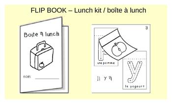 French Flip book - Lunch kit / La boîte à lunch