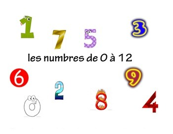 French Flipchart and 3-Worksheet Bundle Pack: Numbers 0-12