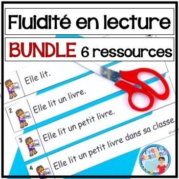 French Fluency Phrases (BUNDLE) Cahier interactif, ateliers, fluidité, lecture