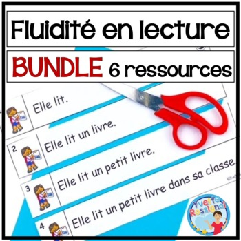 French Fluency Phrases (BUNDLE) Cahier interactif, ateliers, fluidité, lecture