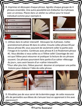 French Fluency Phrases (FREEBIE) Gratuit, French Interactive Notebook