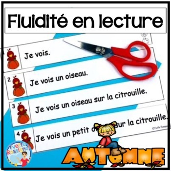 French Fluency Phrases (L'automne) Cahier interactif, fluidité, French Reading