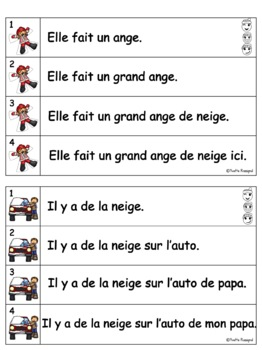French Fluency Phrases (L'hiver) Cahier interactif, ateliers, fluidité, lecture