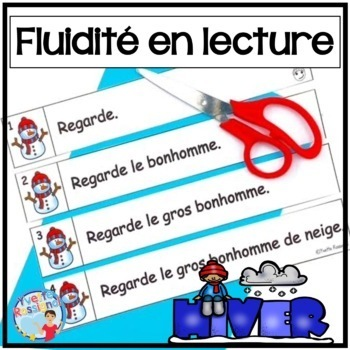 French Fluency Phrases (L'hiver) Cahier interactif, atelie