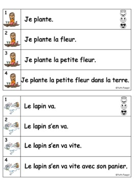 French Fluency Phrases (Le printemps) Cahier interactif, fluidité, lecture