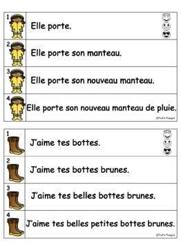 French Fluency Phrases (Le printemps) Cahier interactif, fluidité, lecture