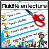 French Reading Fluency - Fluidité en lecture - Le printemps - Lecture guidée