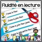 French Reading Fluency Activities | Fluidité en lecture pour LE PRINTEMPS