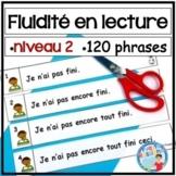 French Fluency Phrases (niveau 2) Cahier interactif, ateliers, fluidité, lecture