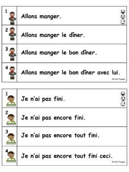 French Reading Fluency Activities   Activités pour fluidité en lecture Niveau 2