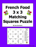 French Food 3 x 3 Matching Squares Puzzle