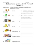 French- Food Adjective Practice #2
