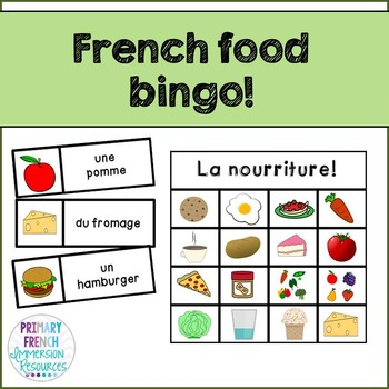 French Food Bingo!