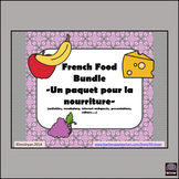 French Food Bundle – Paquet pour la nourriture – Activitie