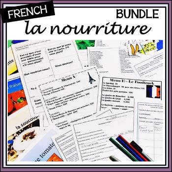 French Food Bundle – Paquet pour la nourriture – Activitie