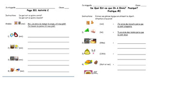 French Food Class Activities