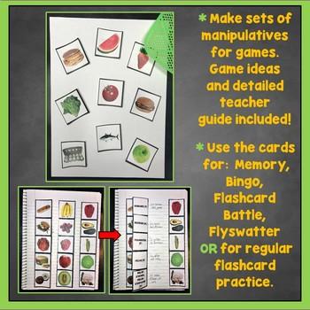 French Food Flashcards, Fruit, Vegetables, Interactive Notebook, La Nourriture