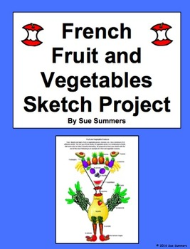 French Food: Fruits and Vegetables Sketch Project