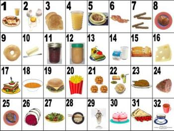 French Food - La Nourriture Vocabulary Teaching Posters