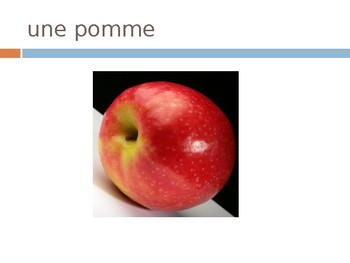 French Food Pictures & Vocabulary - Fruit