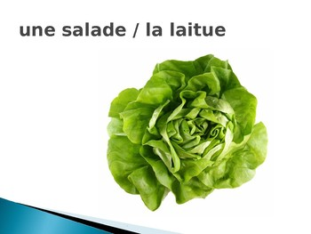 French Food Pictures & Vocabulary - Vegetables