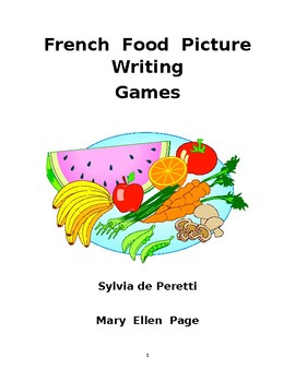 French Food Rebus Activities