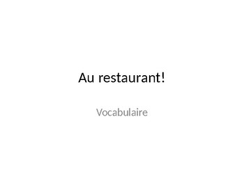 French Food & Restaurant Phrases Introduction (Bien Dit 1 Ch 6)