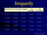 French Food Review Jeopardy Game