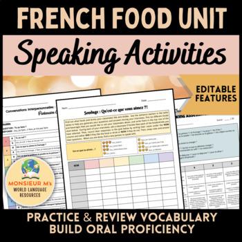 French Food Unit - Speaking Activity (Survey / Sondage)