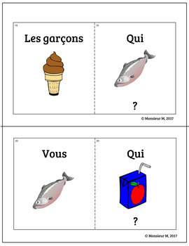 French Food Unit - Le Cercle Magique Game (Qui mange...? Je mange...)