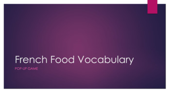 French Food Vocabulary : Full Class Game : Pop-Up