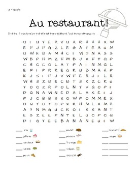 illustrated french food word search by madame macaron tpt. Black Bedroom Furniture Sets. Home Design Ideas