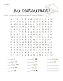 Illustrated French Food Word Search