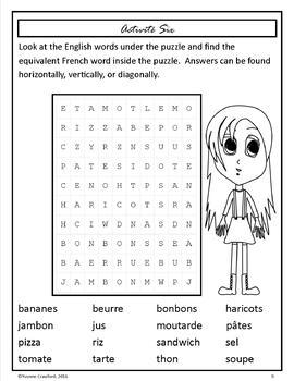 French Food Words  -  La Nourriture en Français