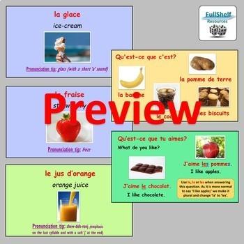 French Food and Drink (La Nourriture et Les Boissons) Lesson Presentation