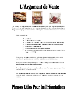 French Food and Restaurant Project