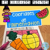 French Food color by code / Coloriages magiques {Alimentation