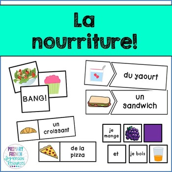 French Food - flashcards, word wall cards, and games!