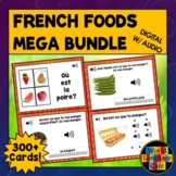 French Foods, Drinks Boom Cards, French Digital Flashcards, All Foods Bundle