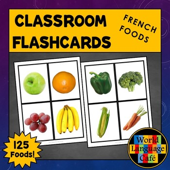 French Foods Flashcards, Fruits, Vegetables, Drinks Flashcards