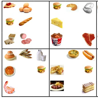 French Foods notes, PowerPoint, and Spot It game bundle
