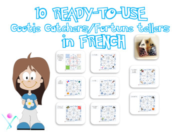French Fortune tellers cootie catchers starters