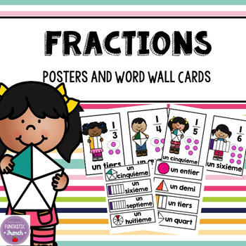 French Fractions Mini Posters and Math Wall Cards