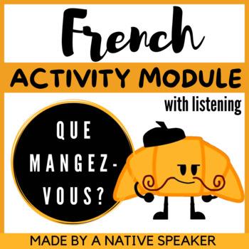 French Francais Audio et questions Les Vacances AP lesson lecon