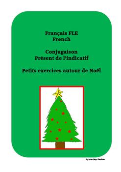 French Français FLE conjugaison présent de l'indicatif Noël hiver