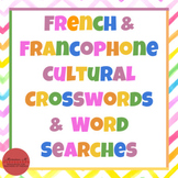 French & Francophone Cultural Crosswords & Word Searches