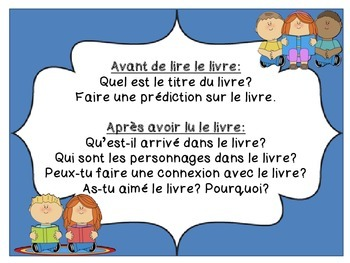 French Freebie - Partner Reading Questions