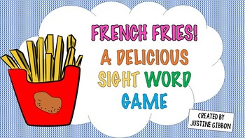 French Fries Sight Word Phase Game (5th set of 100)